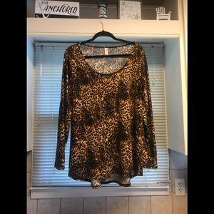 LuLaRoe XL Leopard print Lynnae